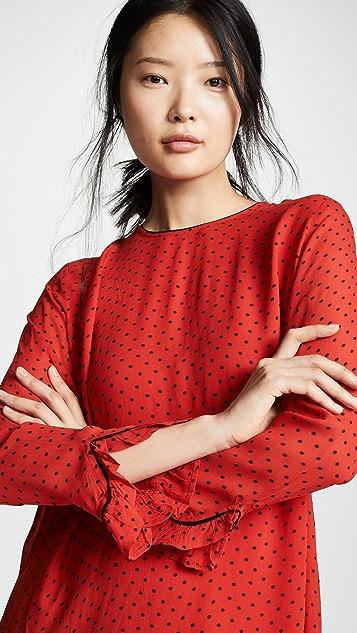 GANNI Printed Georgette Dress
