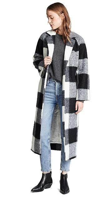 GANNI Pattern Wool Coat