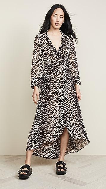 8705f86a8492 GANNI Printed Georgette Wrap Dress | SHOPBOP