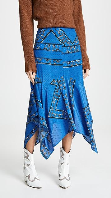 0aa7ceef3f2a GANNI Sandwashed Silk Skirt