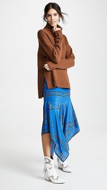 5739c7ac60ec ... GANNI Sandwashed Silk Skirt ...