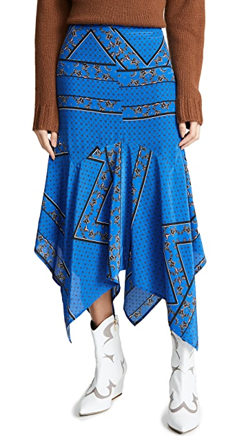 GANNI Шелковая юбка Sandwashed