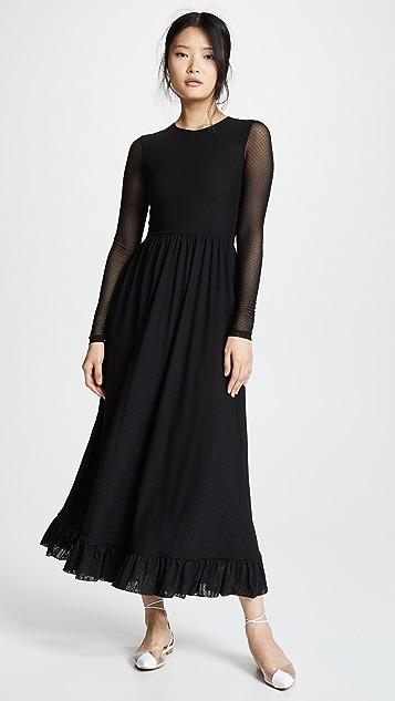 9fc1c48150 GANNI Dot Mesh Dress ...