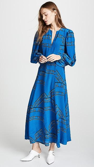 8a9dc6fd7696 GANNI Sandwashed Silk Dress ...