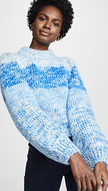 Hand Knit Wool &Amp; Mohair Sweater by Ganni