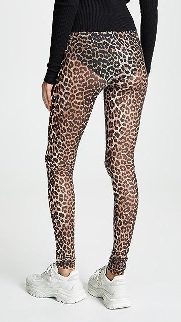 GANNI Printed Mesh Pants