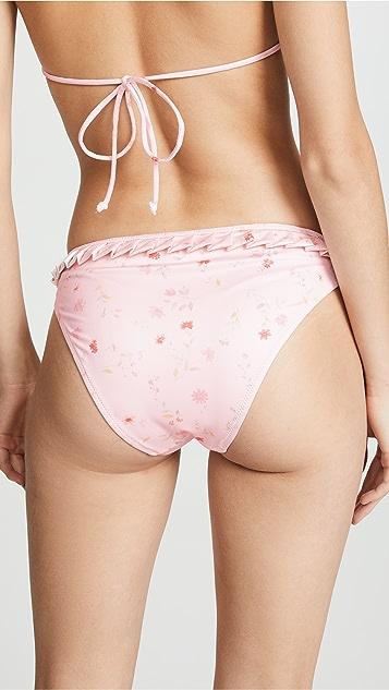 GANNI All Over Print Bikini Bottoms