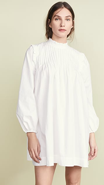 GANNI Cotton Poplin Dress