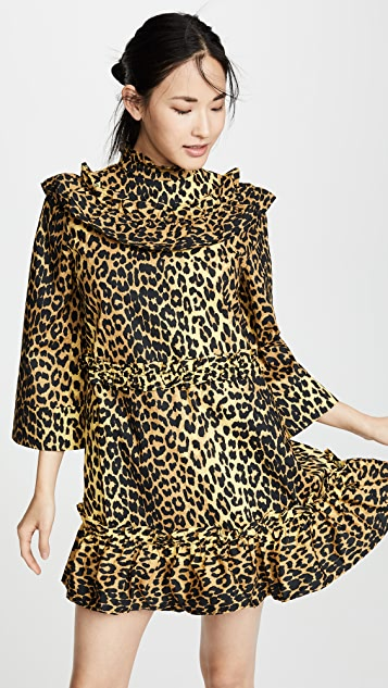 GANNI Printed Cotton Dress