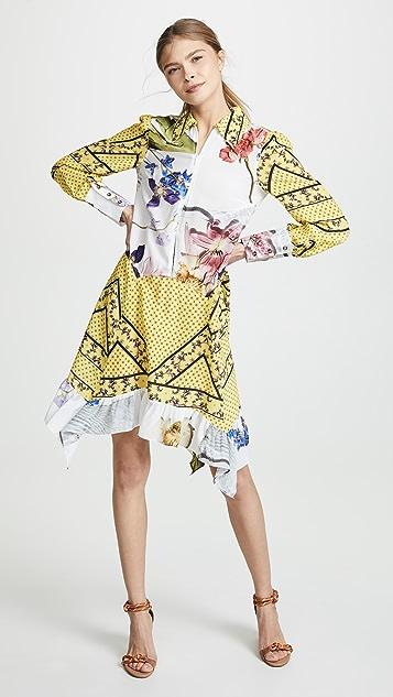 GANNI Silk Mix Dress