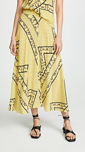 781470725 GANNI Silk Mix Skirt | SHOPBOP