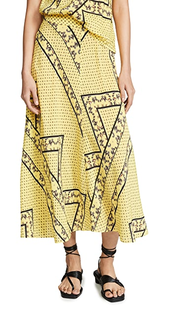 GANNI Silk Mix Skirt