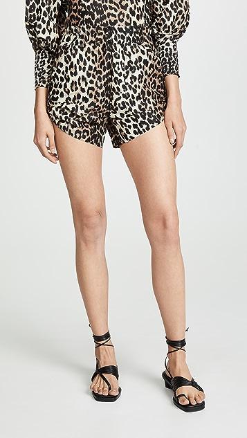 e9776ab9c69e GANNI Silk Linen Shorts | SHOPBOP