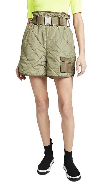 GANNI Ripstop Quilt Shorts