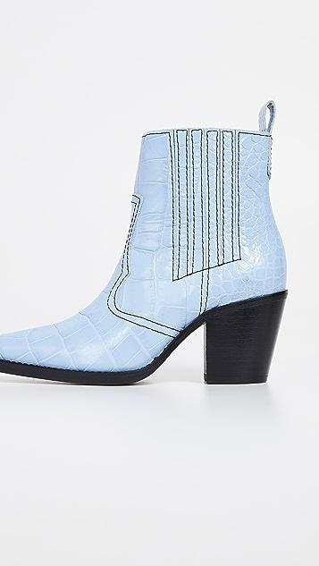GANNI Ковбойские ботинки
