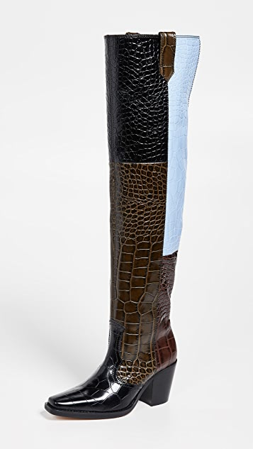 High Western Boots by Ganni