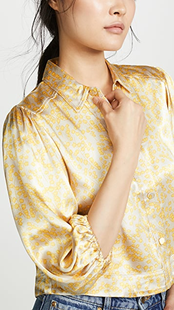 GANNI Heavy Satin Blouse