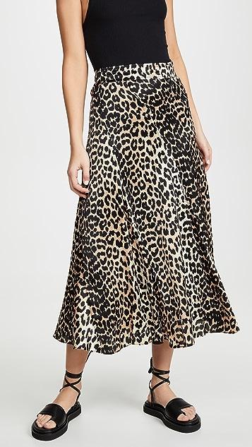 GANNI Шелковая эластичная юбка