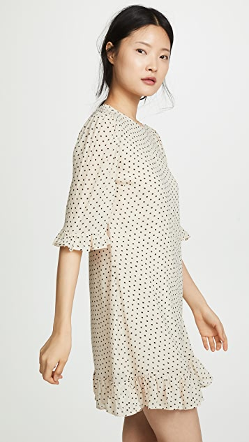 GANNI Elm Georgette Dress