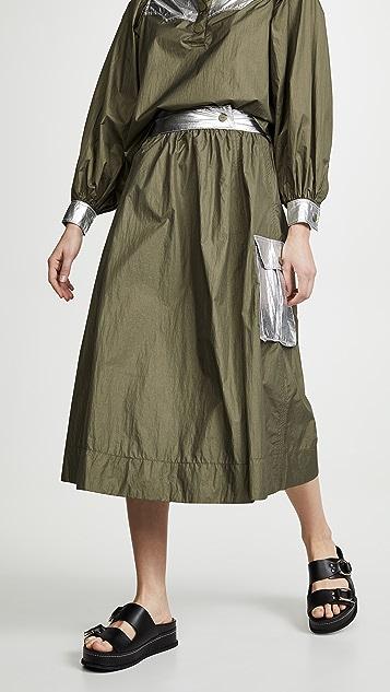GANNI 双向高科技半身裙