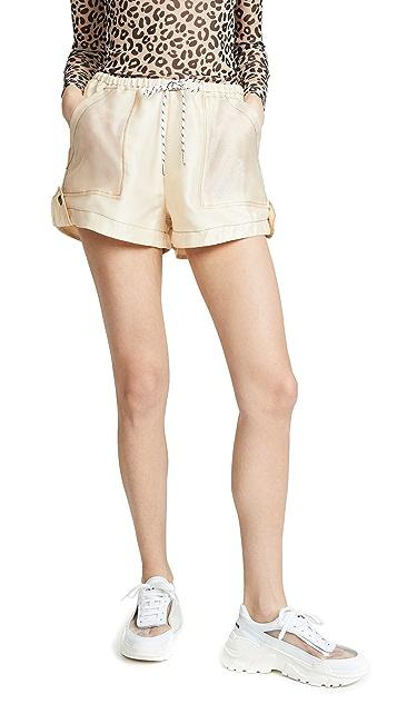 GANNI Solid Organza Shorts