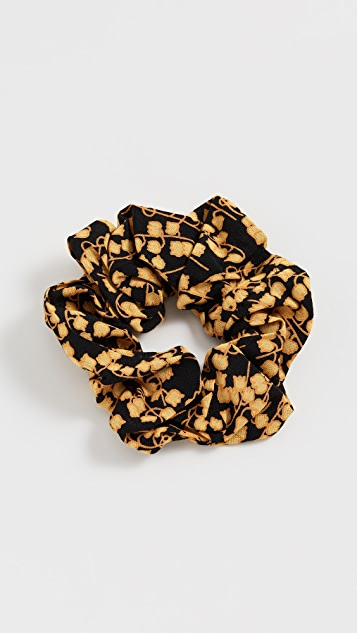 Printed Crepe Scrunchie by Ganni