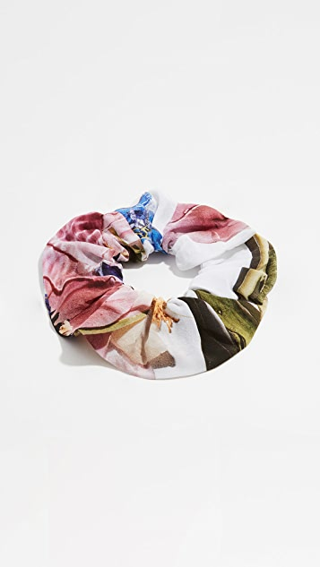 GANNI Silk Mix Scrunchie