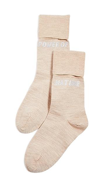GANNI Рубчатые носки