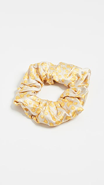 GANNI Heavy Satin Scrunchie - Tapioca