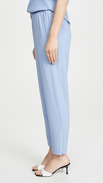 GANNI 厚实绉绸裤子