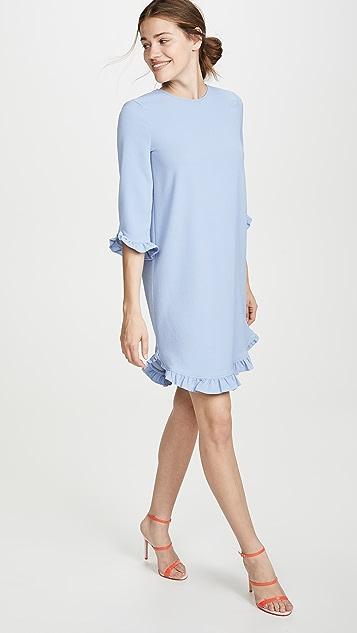 GANNI 厚实绉绸连衣裙