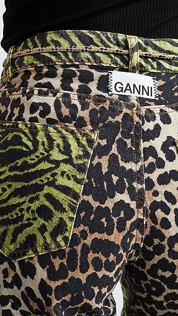 GANNI Print Denim Jeans