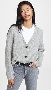 GANNI Soft Wool Knit Cardigan