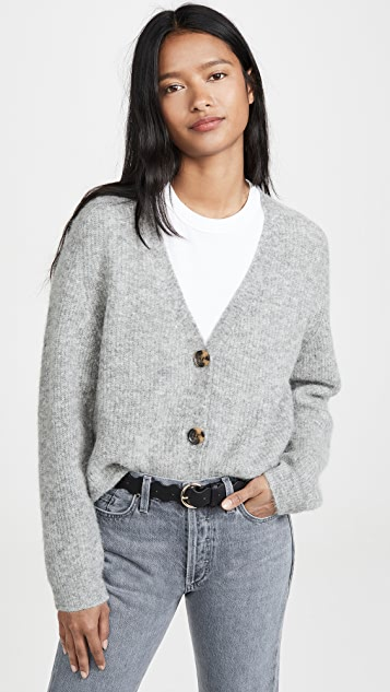 GANNI Soft Wool Knit Cardigan