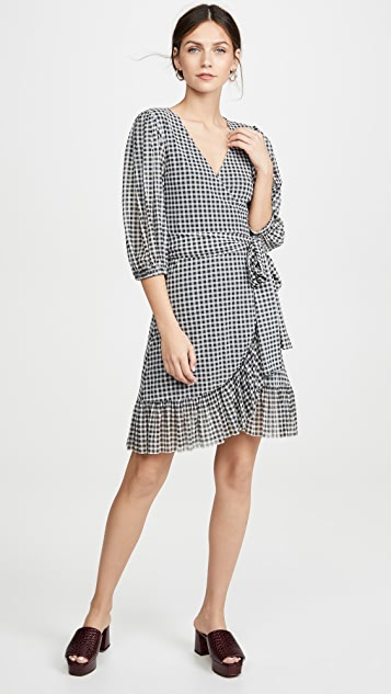 GANNI Printed Mesh Dress