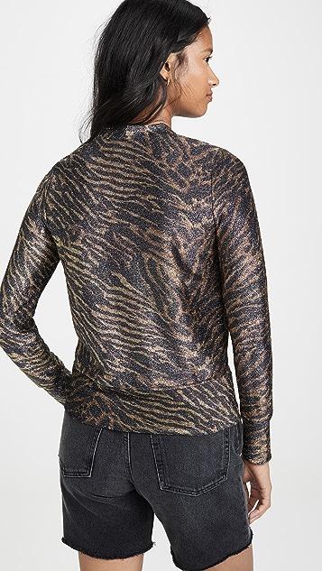 GANNI Metallic Jersey Cardigan