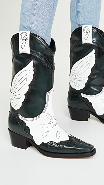 GANNI Texas 高筒靴