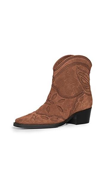 GANNI Low Texas Boots