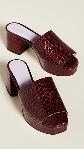 GANNI Plateau Slide Sandals