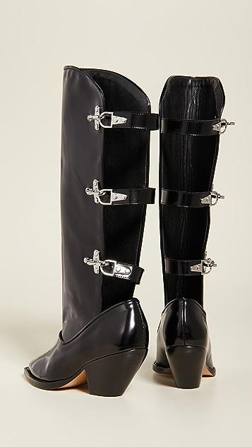GANNI 镂空靴筒靴子