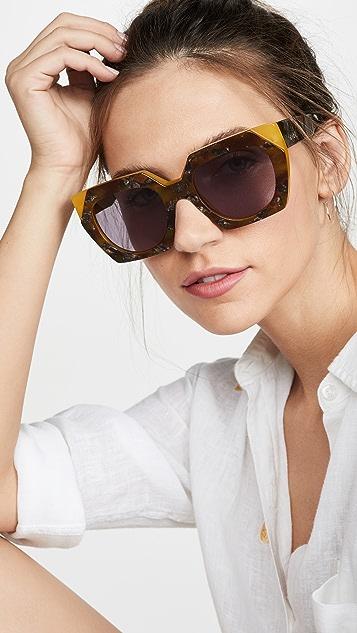 GANNI Двухслойные солнцезащитные очки