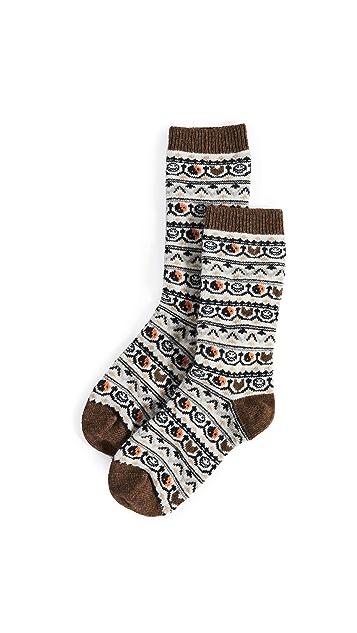 GANNI Intarsia Socks