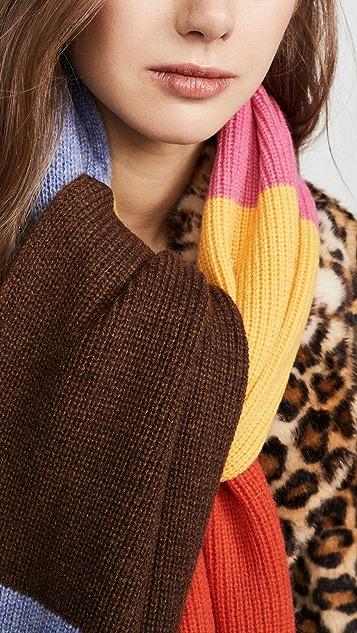GANNI Knit Striped Scarf