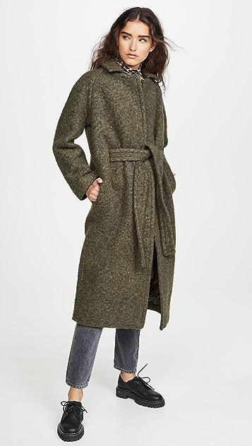 GANNI 珠皮呢羊毛大衣