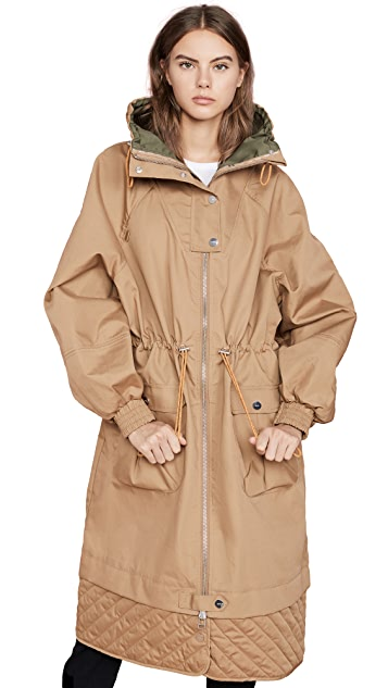 GANNI Double Cotton Trench