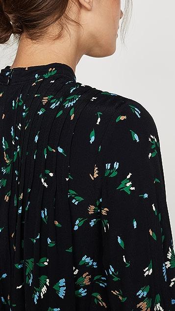 GANNI Блуза из крепа с принтом