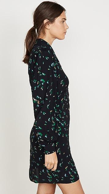 GANNI Платье из крепа с принтом