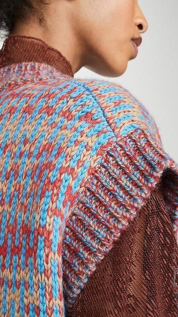 GANNI Hand Knit Wool Vest