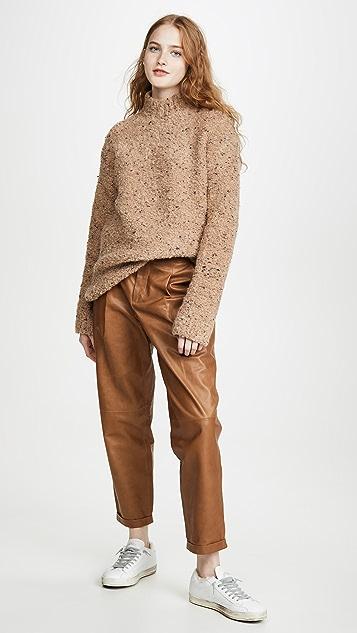 GANNI 竹节纹针织毛衣
