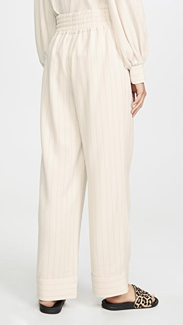 GANNI Heavy Crepe Pants